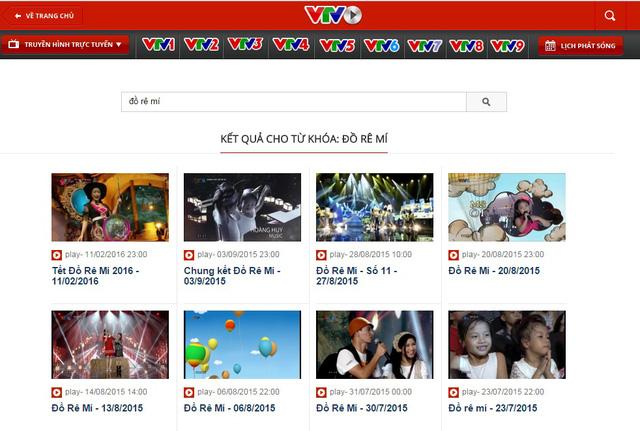 Các số đã phát sóng của Đồ Rê Mí có thể xem lại tren báo điện tử VTV News