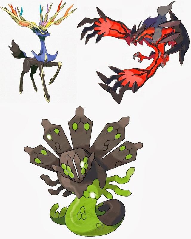 Bộ ba Pokémon huyền thoại vùng Kalos là Xerneas, Yveltal và Zegarde