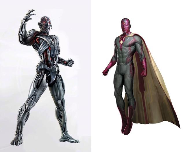 Cơ thể của Ultron và Vision đều được tạo nên từ vật liệu siêu cứng Vibranium