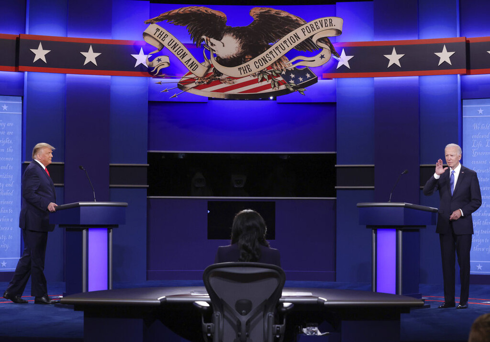 Tranh luận bầu cử Tổng thống Mỹ: Ông Trump nói vì những người như ông Joe Biden nên mới ra tranh cử - Ảnh 4.