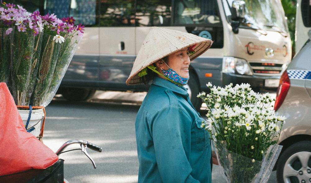 Cúc họa mi ngập tràn phố phường Hà Nội, giá tăng vì khan hàng - Ảnh 6.