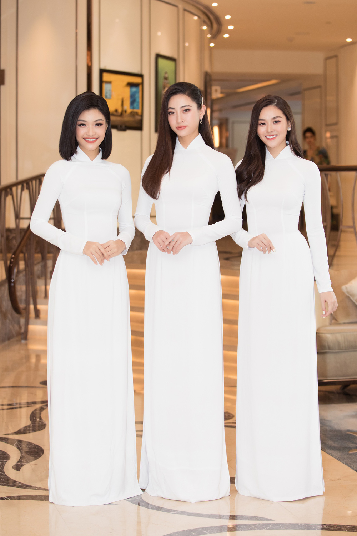 Vì sao dàn người đẹp đồng loạt diện áo dài trắng tại họp báo Hoa hậu Việt Nam 2020? - Ảnh 7.