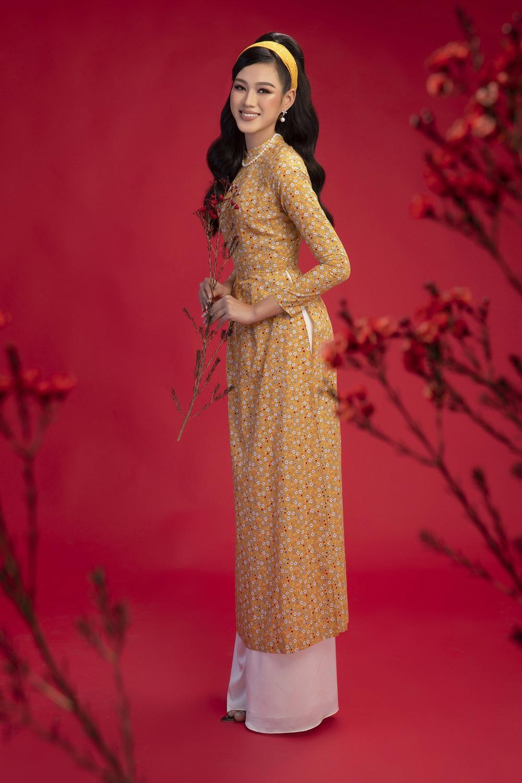 Hoa hậu Đỗ Thị Hà khoe vẻ sắc sảo với áo dài retro - ảnh 8
