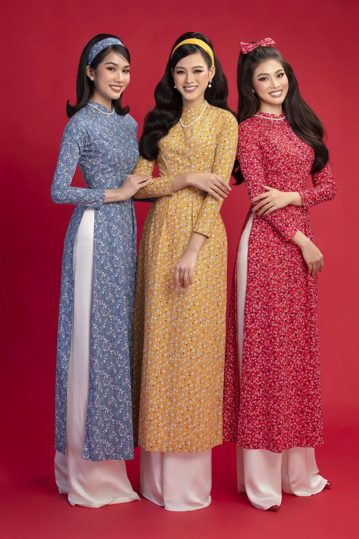 Hoa hậu Đỗ Thị Hà khoe vẻ sắc sảo với áo dài retro - ảnh 2
