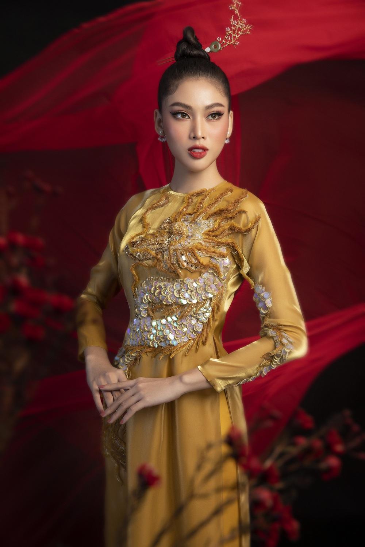 Hoa hậu Đỗ Thị Hà khoe vẻ sắc sảo với áo dài retro - ảnh 13