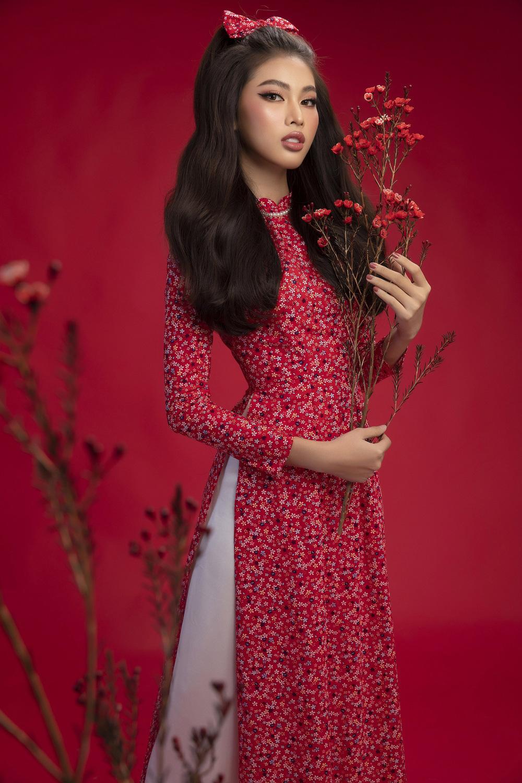 Hoa hậu Đỗ Thị Hà khoe vẻ sắc sảo với áo dài retro - ảnh 15