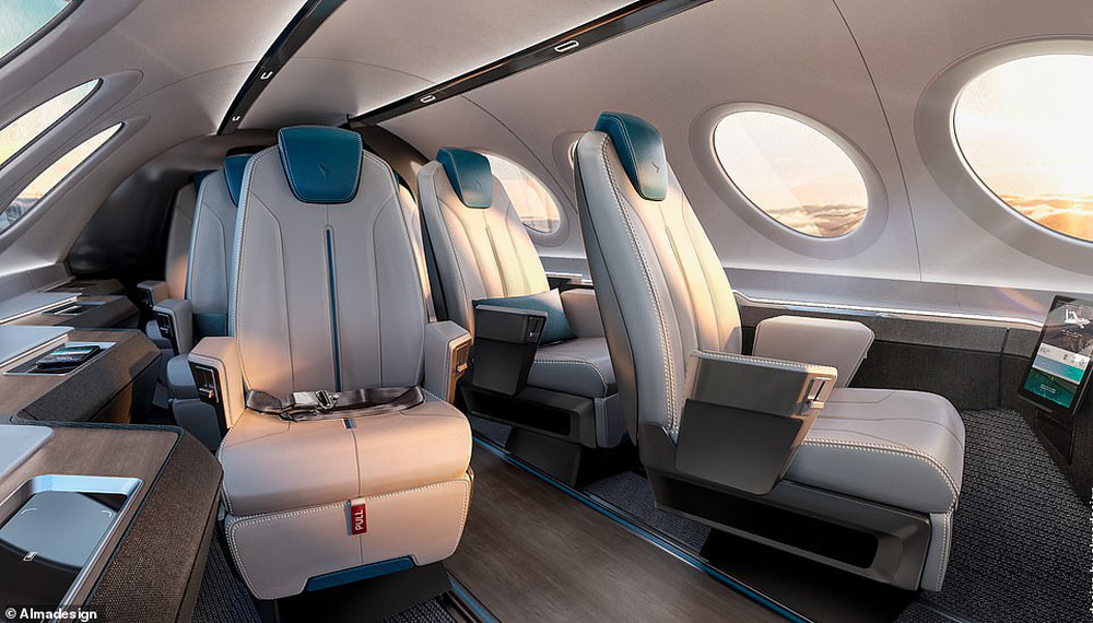 Những thiết kế khoang máy bay ấn tượng: Quán cà phê, giường tầng... trên trời - ảnh 1