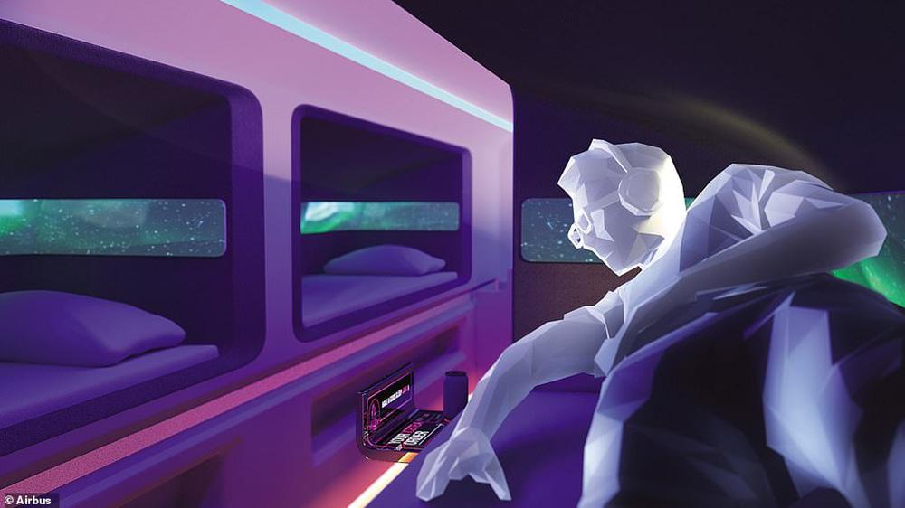 Những thiết kế khoang máy bay ấn tượng: Quán cà phê, giường tầng... trên trời - ảnh 4
