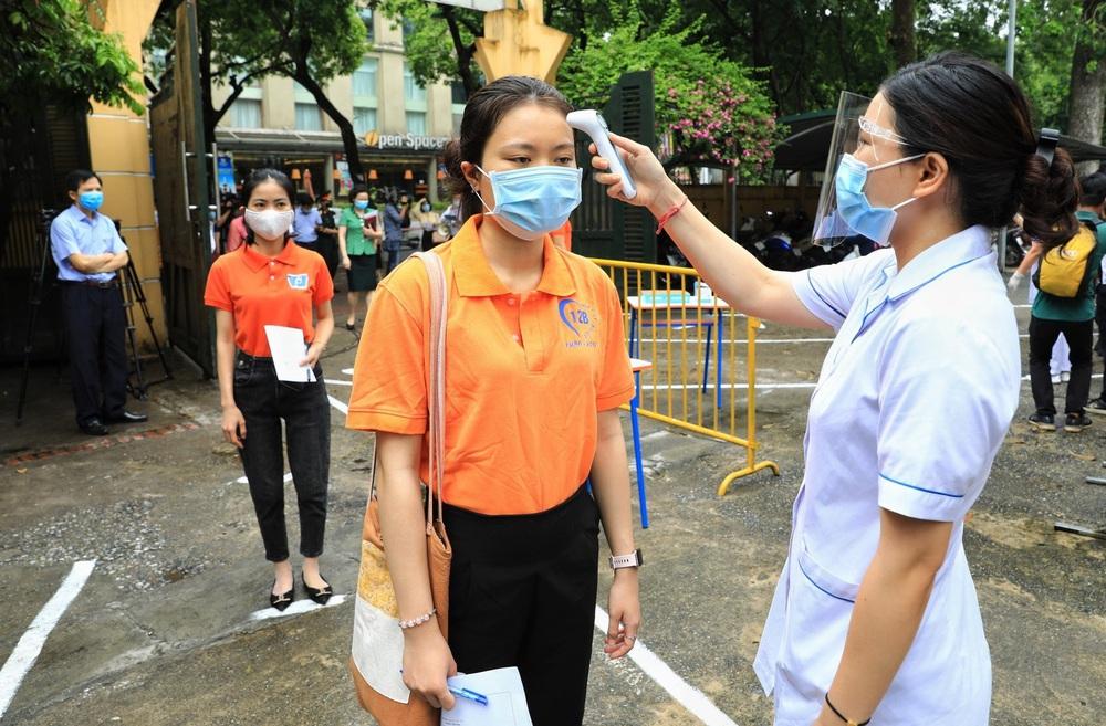 Hà Nội diễn tập phòng, chống dịch COVID-19 cho kỳ thi vào lớp 10 - Ảnh 25.