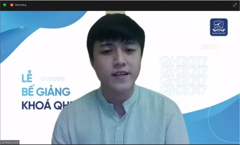Lễ bế giảng trực tuyến ý nghĩa của sinh viên ĐH Ngoại Ngữ, ĐHQG Hà Nội - Ảnh 2.