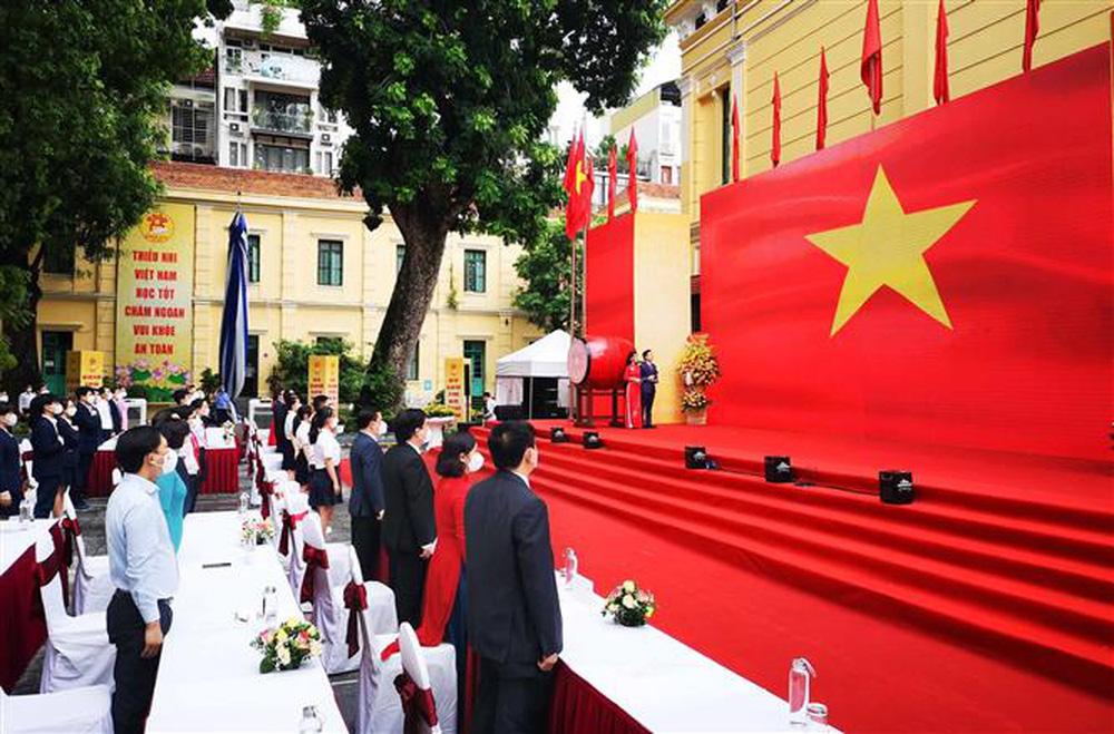 Ảnh: Lễ khai giảng năm học mới đặc biệt ở Hà Nội - Ảnh 6.