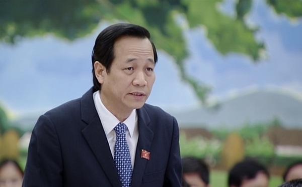 Bộ trưởng Đào Ngọc Dung giải thích