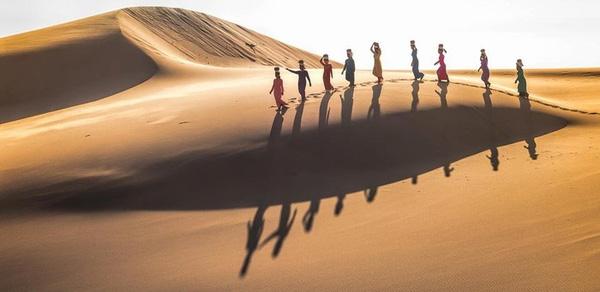 Chiêm ngưỡng vẻ đẹp đồi cát ở Ninh Thuận
