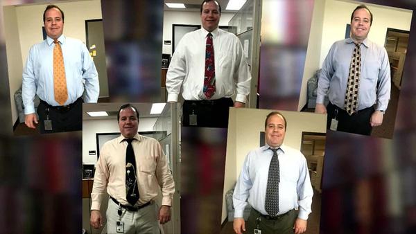 Người đàn ông mỗi ngày đeo 1 chiếc cà vạt khác nhau trong suốt 7 năm - ảnh 1