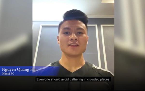 Tham gia dự án của AFC, Quang Hải kêu gọi mọi người đoàn kết chống lại dịch COVID-19