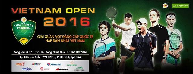 Việt Nam Open 2016 - Giải quần vợt đẳng cấp quốc tế hấp dẫn nhất Việt Nam - Ảnh 1.