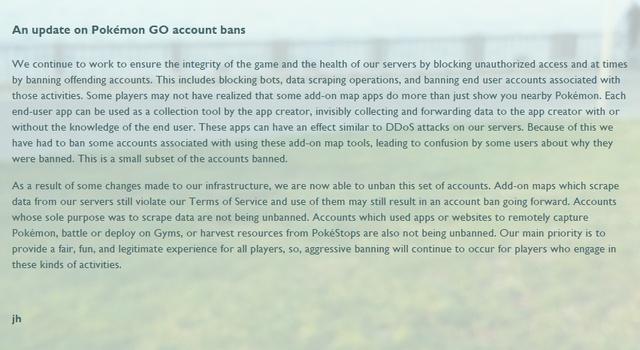 """Pokémon GO: Nhiều tài khoản được Niantic """"ân xá"""" - Ảnh 1."""