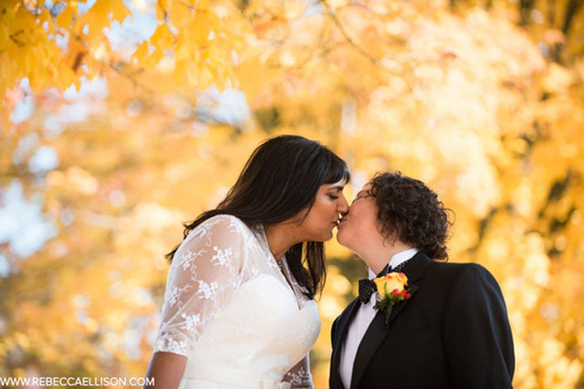 Những bức ảnh cưới tuyệt đẹp mang màu sắc của mùa thu - Ảnh 10.