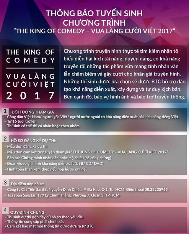Gameshow Vua làng cười Việt chính thức tuyển sinh tại Hà Nội - Ảnh 1.