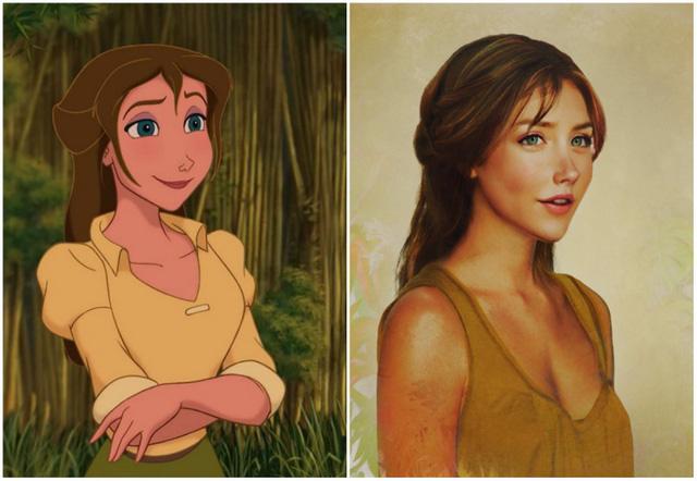 Khi nhan sắc của các công chúa Disney được đưa ra ngoài đời thực - Ảnh 9.