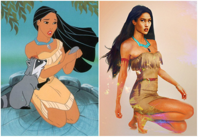 Khi nhan sắc của các công chúa Disney được đưa ra ngoài đời thực - Ảnh 8.