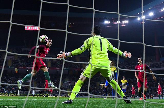 VIDEO, Bồ Đào Nha 6-0 Andorra: Show diễn của riêng Ronaldo! - Ảnh 1.