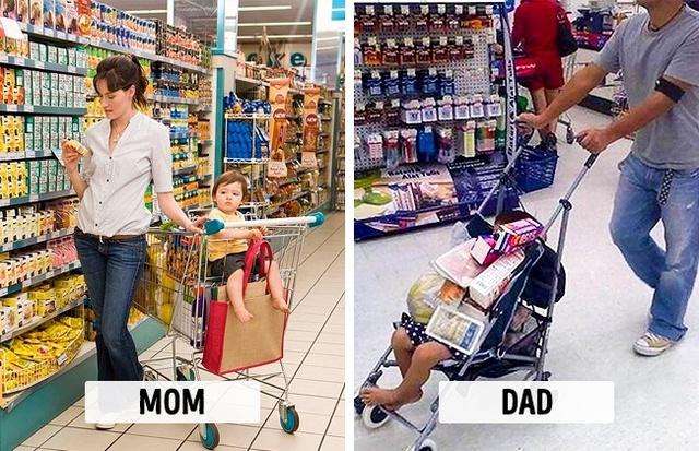 Sự khác biệt một trời, một vực khi bố và mẹ chăm con - Ảnh 8.