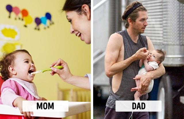 Sự khác biệt một trời, một vực khi bố và mẹ chăm con - Ảnh 7.
