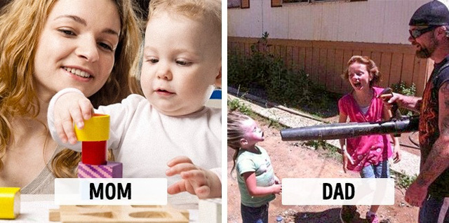 Sự khác biệt một trời, một vực khi bố và mẹ chăm con - Ảnh 3.