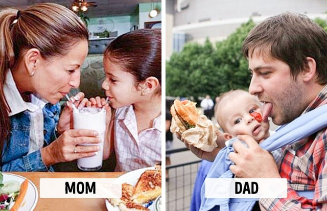 Sự khác biệt một trời, một vực khi bố và mẹ chăm con - Ảnh 10.