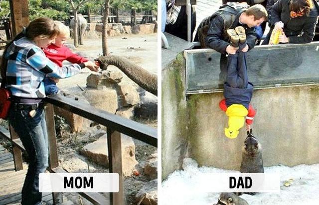 Sự khác biệt một trời, một vực khi bố và mẹ chăm con - Ảnh 1.