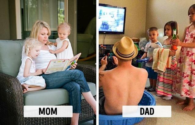 Sự khác biệt một trời, một vực khi bố và mẹ chăm con - Ảnh 4.