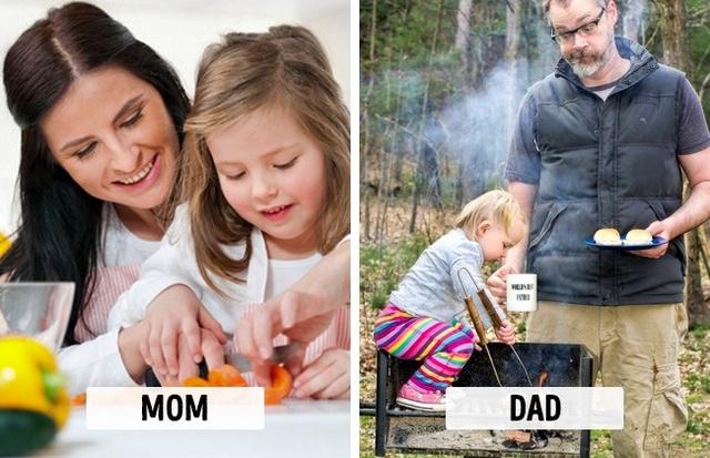 Sự khác biệt một trời, một vực khi bố và mẹ chăm con - Ảnh 9.