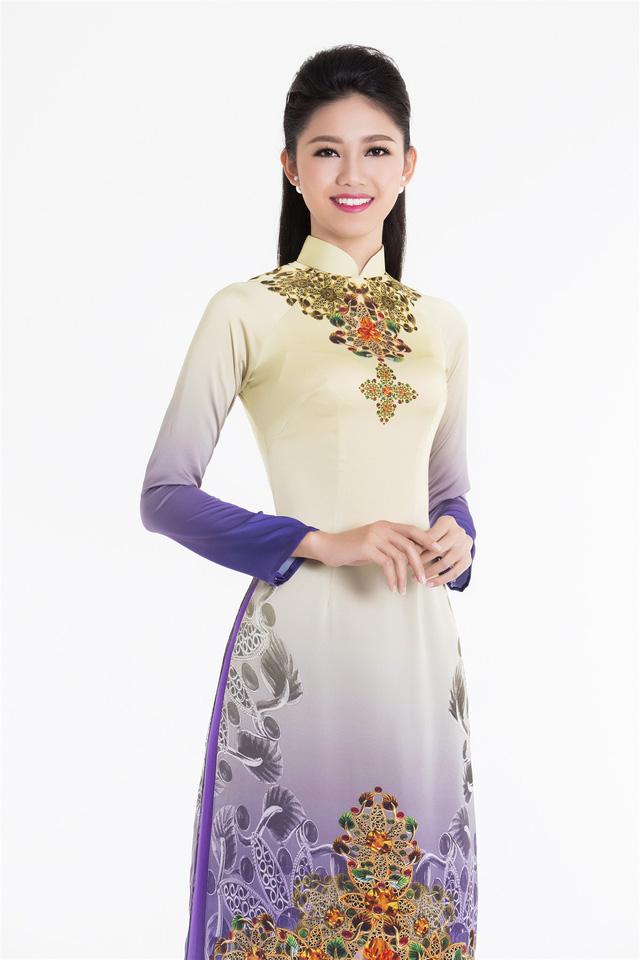 Top 3 Hoa hậu Việt Nam 2016 tỏa hương sắc trong trang phục áo dài - Ảnh 8.