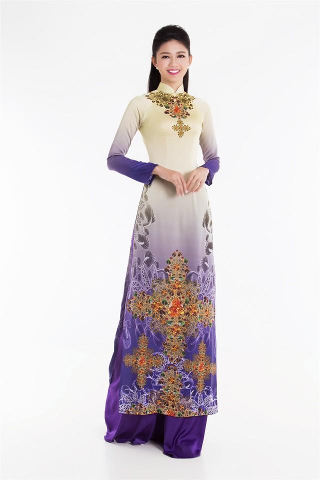 Top 3 Hoa hậu Việt Nam 2016 tỏa hương sắc trong trang phục áo dài - Ảnh 7.