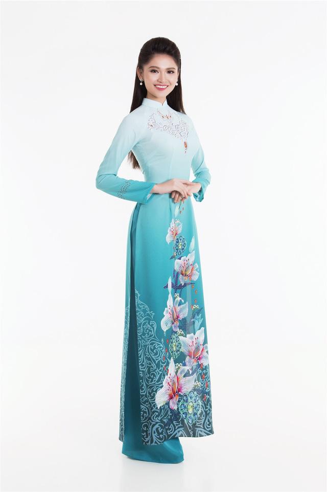 Top 3 Hoa hậu Việt Nam 2016 tỏa hương sắc trong trang phục áo dài - Ảnh 6.
