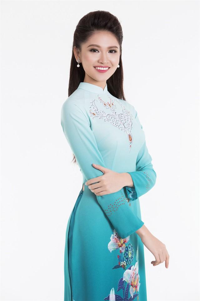 Top 3 Hoa hậu Việt Nam 2016 tỏa hương sắc trong trang phục áo dài - Ảnh 5.
