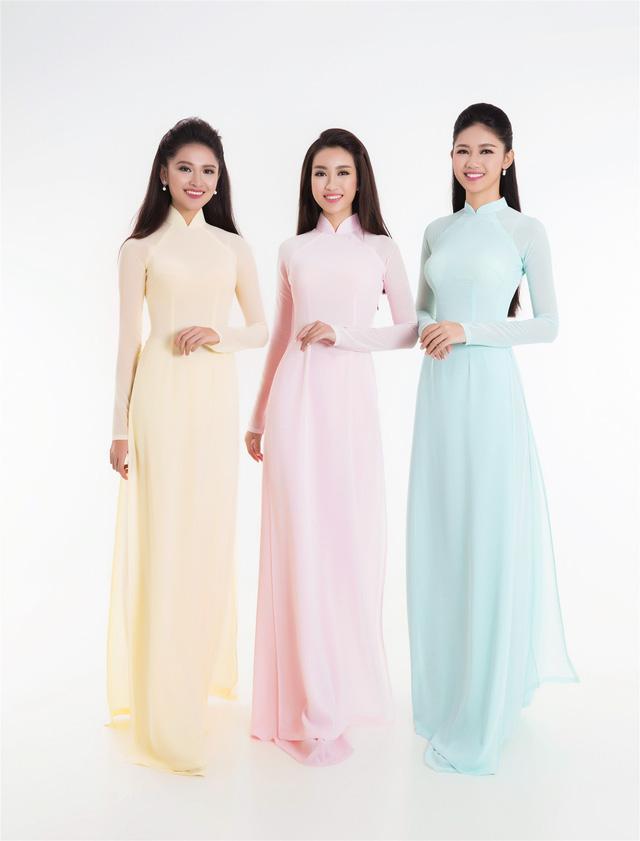 Top 3 Hoa hậu Việt Nam 2016 tỏa hương sắc trong trang phục áo dài - Ảnh 9.