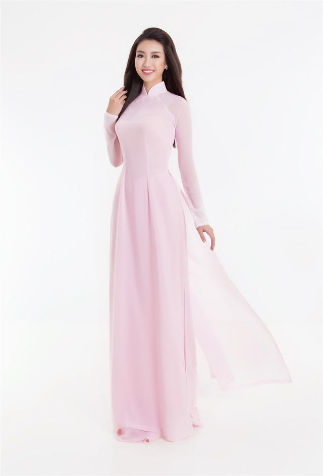 Top 3 Hoa hậu Việt Nam 2016 tỏa hương sắc trong trang phục áo dài - Ảnh 4.