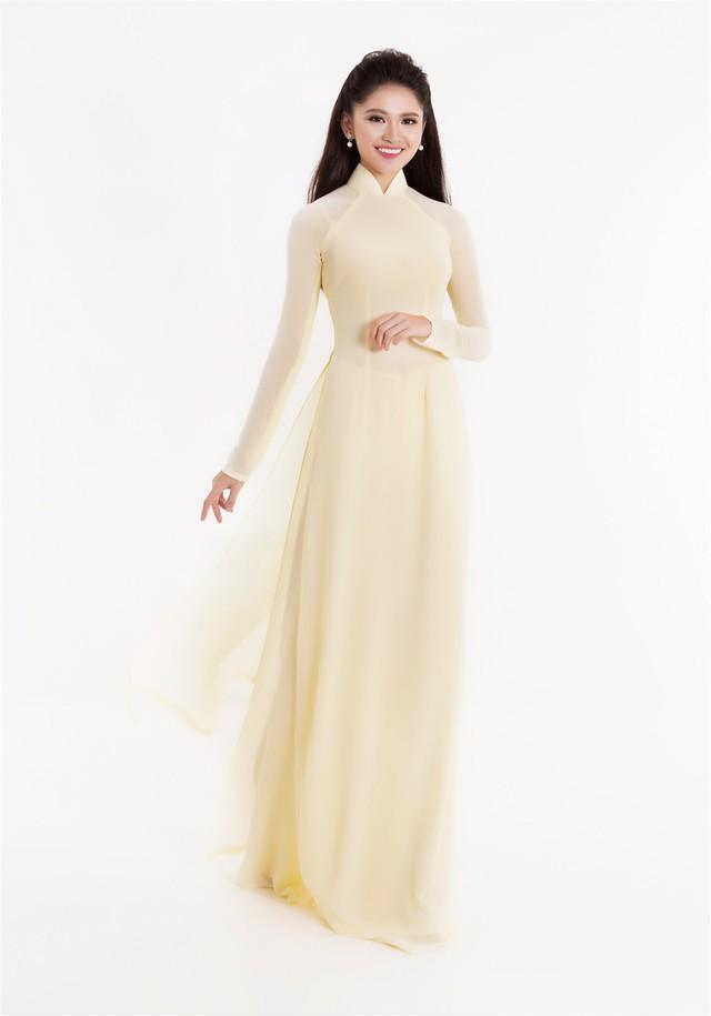 Top 3 Hoa hậu Việt Nam 2016 tỏa hương sắc trong trang phục áo dài - Ảnh 3.
