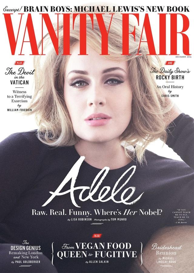 Adele khoe vẻ mặn mà trên tạp chí Vanity Fair - Ảnh 1.