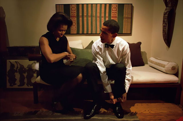 Chuyện tình ngọt ngào của Tổng thống Obama qua ảnh - Ảnh 6.