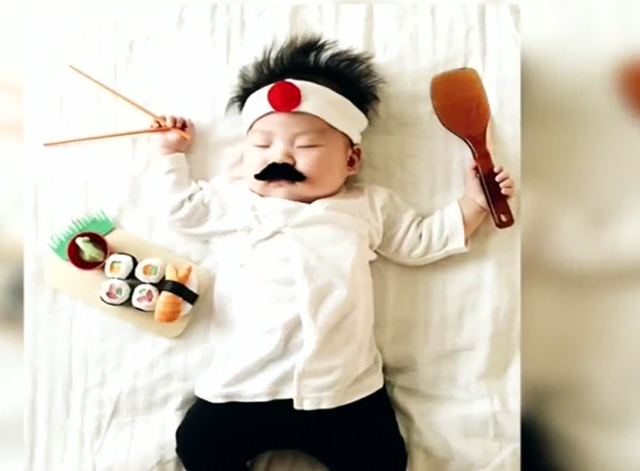 Bé 4 tháng tuổi được hóa trang thành những nhân vật siêu dễ thương - Ảnh 5.