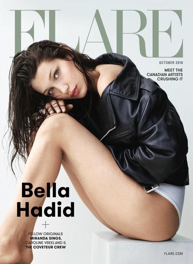 Chân dài Bella Hadid kín kín hở hở trên Flare - Ảnh 1.