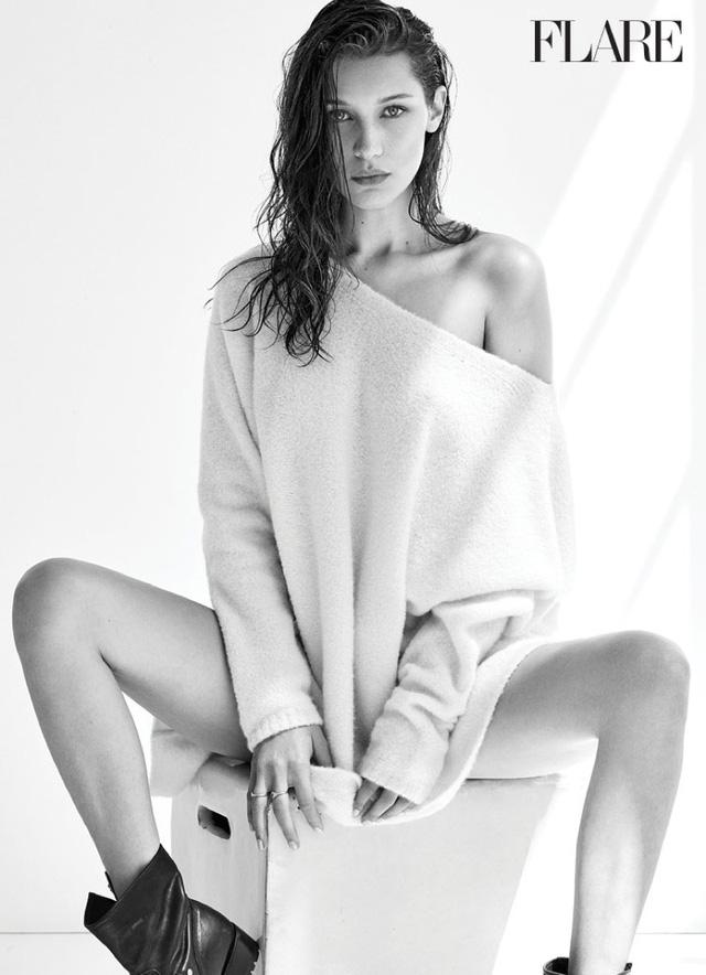 Chân dài Bella Hadid kín kín hở hở trên Flare - Ảnh 4.