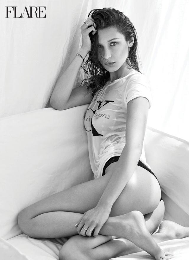 Chân dài Bella Hadid kín kín hở hở trên Flare - Ảnh 6.