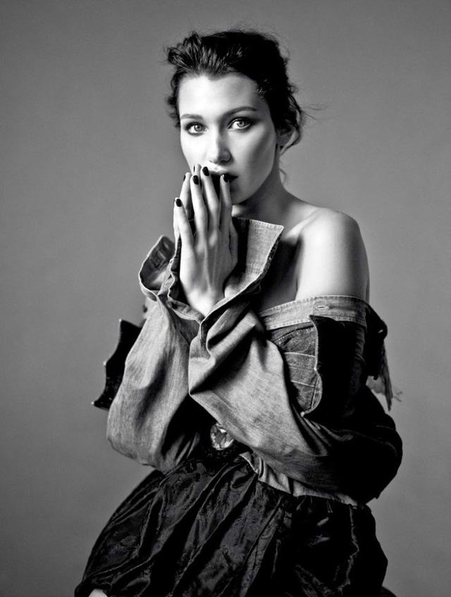 Bella Hadid khoe vai trần gợi cảm trên báo Nga - Ảnh 5.