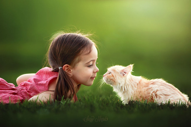 Ngất ngây bộ ảnh siêu dễ thương về bé gái yêu động vật - Ảnh 10.