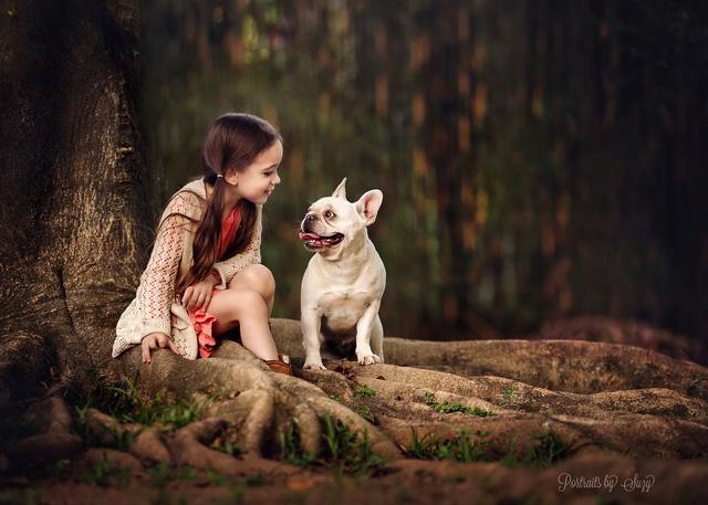 Ngất ngây bộ ảnh siêu dễ thương về bé gái yêu động vật - Ảnh 7.