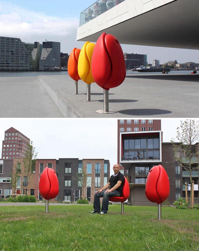 Ngắm muôn kiểu ghế ngồi siêu độc ở không gian công cộng - Ảnh 3.